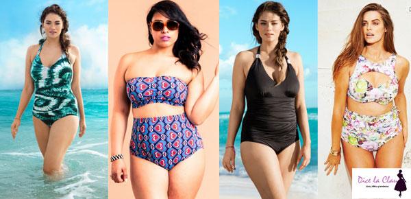 Moda Plus Size bañadores