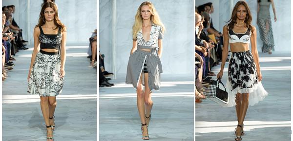Diane Von Furstenberg elige prendas femeninas y juveniles. Lejos una de mis colecciones favoritas que se mostraron en las últimas pasarelas.