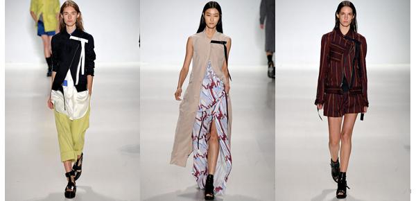 Richard Chai Love elige las capas y caídas libres. Nada de estructuras, que las prendas se amolden como mejor puedan al cuerpo.