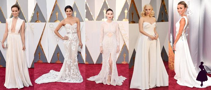 Vestidos de los Oscar Blanco