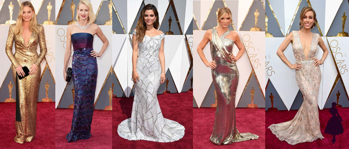 Vestidos de los Oscar Brillo