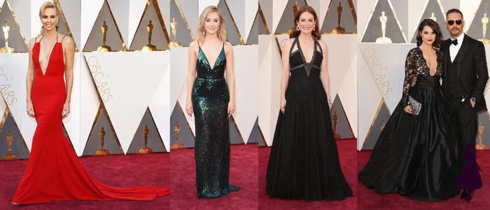 Vestidos de los Oscar Escote