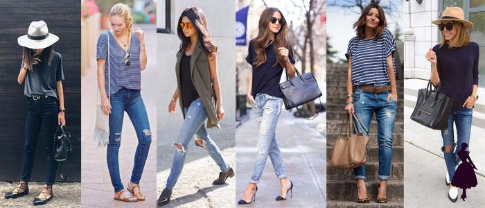 outfits para la universidad jeans
