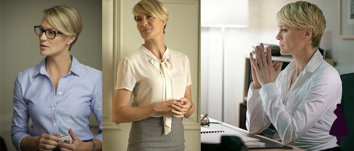 Claire Underwood blusas