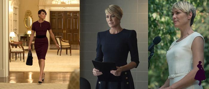 Claire Underwood vestidos