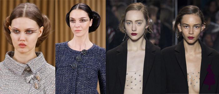 Maquillaje de pasarela Chanel Dior