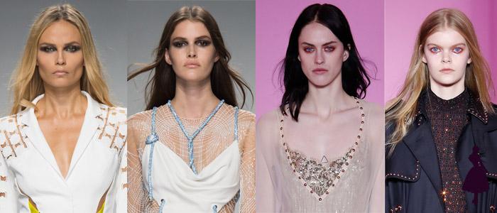 Maquillaje de pasarela Versace Givenchy