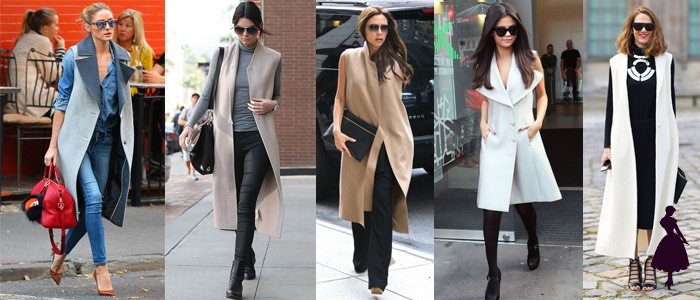 Sleevless jackets celebrities