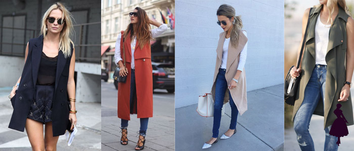 Sleeveless jackets looks