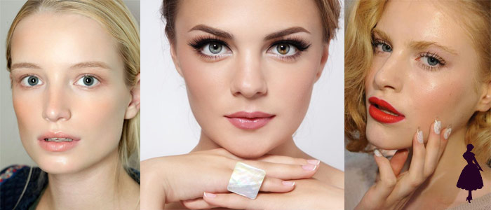 Base de maquillaje rostros