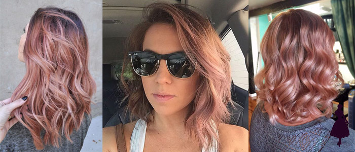 Cabello rose gold suave
