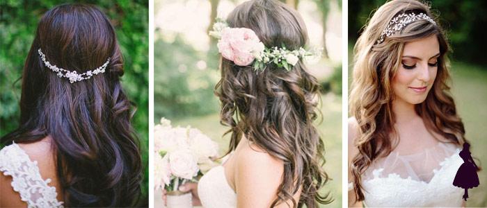 Peinados para novias suelto