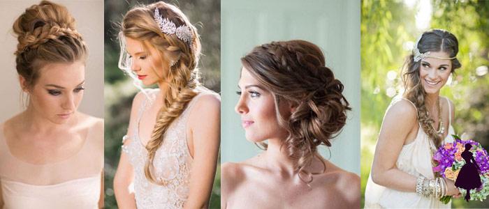 Peinados para novias trenzas