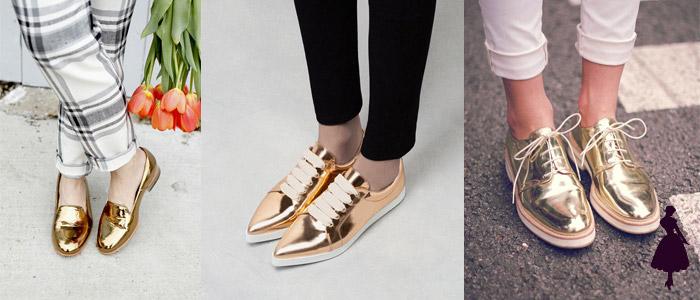 Zapatos metálicos Dorados