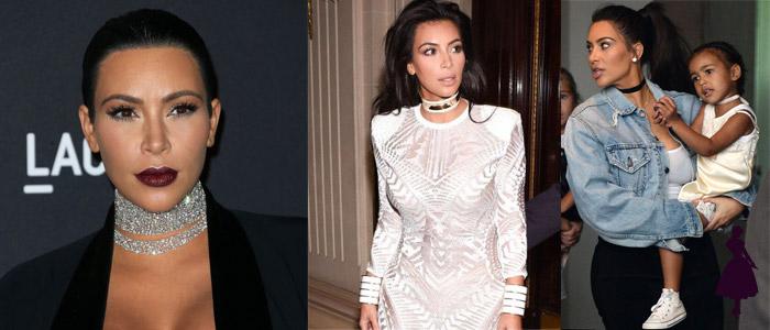 Collar Choker Kim Kardashian