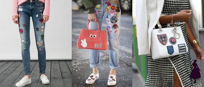 Prendas con parches Pantalones