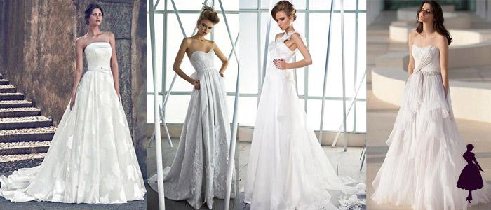Tipos de vestidos de novia Línea A