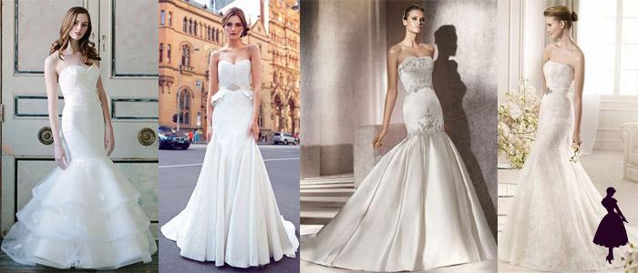 Tipos de vestidos de novia Sirena