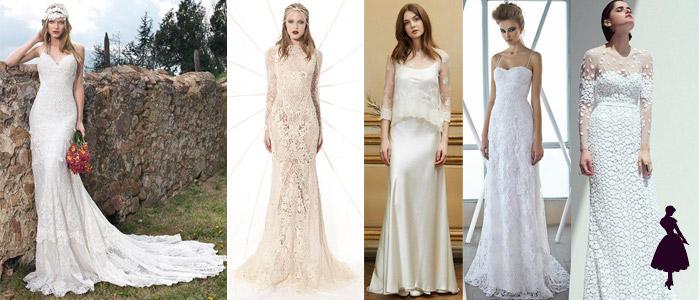 Tipos de vestidos de novia Tubo