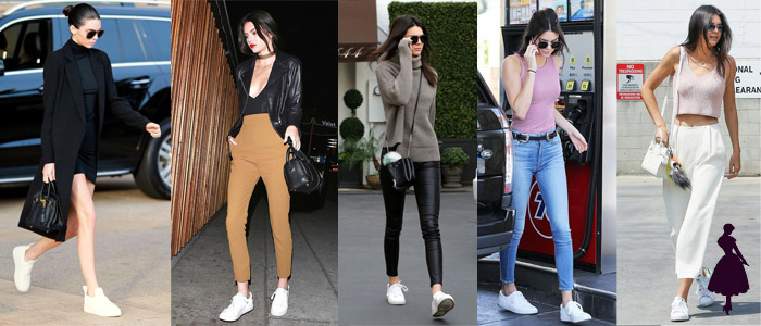 White Sneakers Kendall Jenner