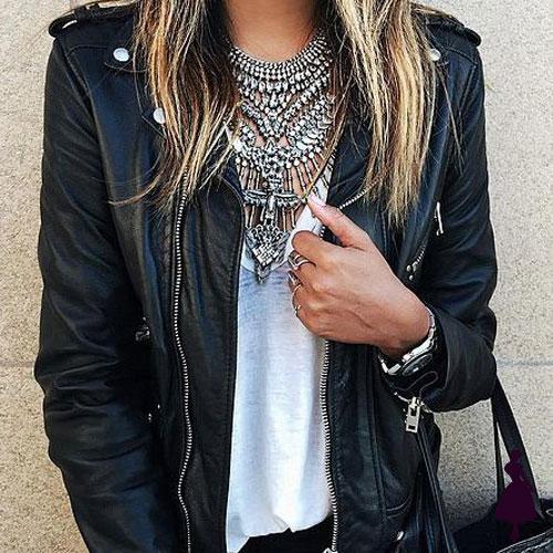 Biker Jacket Collar