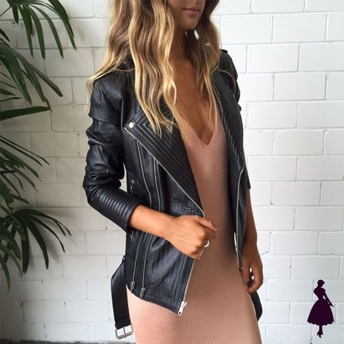 Biker Jacket Vestido