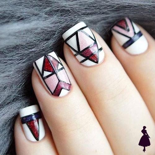 Nailart geométricos líneas