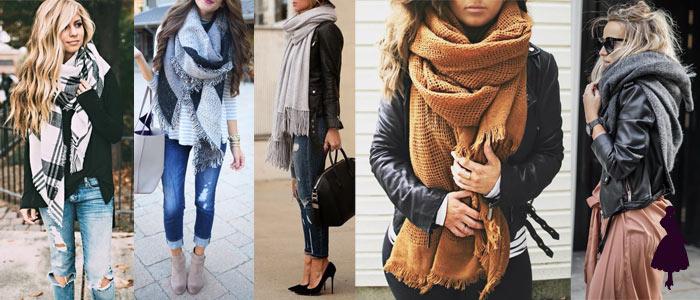 Prendas clave para el invierno Maxi bufanda