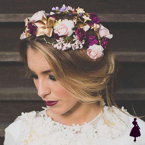 Tocados para novia flores