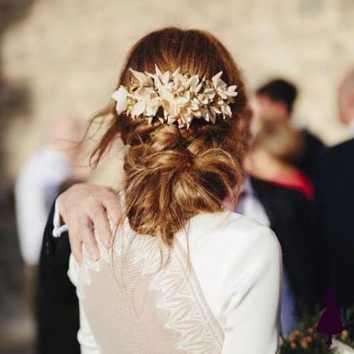 Tocados para novia hojas