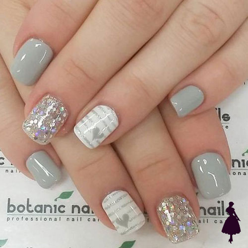 Uñas color gris
