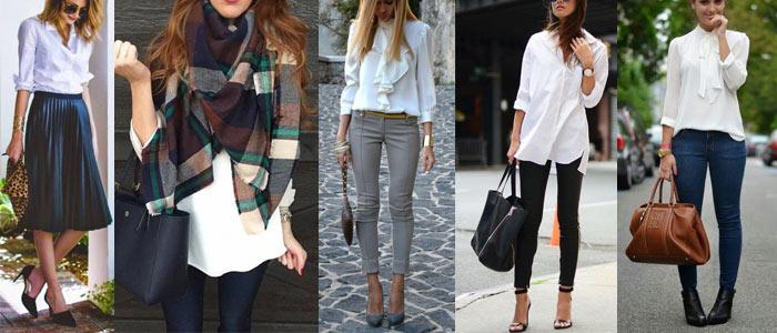 Blusa Blanca Formal