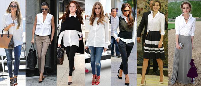 Blusa blanca Famosas