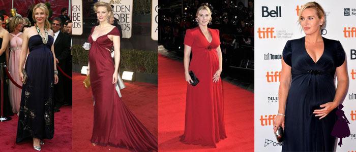 Embarazadas en la alfombra roja Cate y Kate