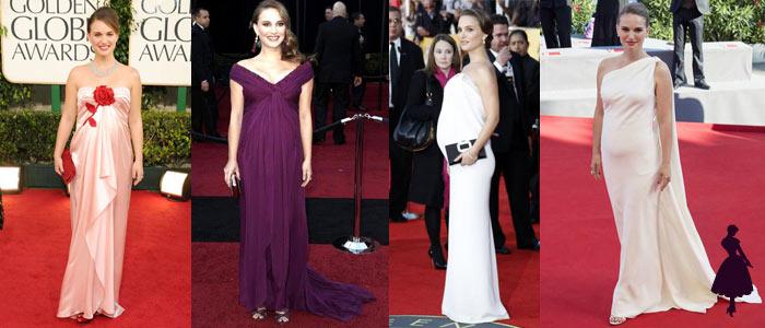 Embarazadas en la alfombra roja Natalie Portman