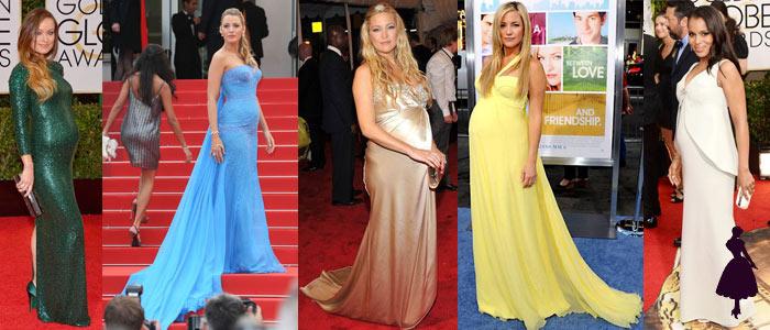 Embarazadas en la alfombra roja Varias celebridades