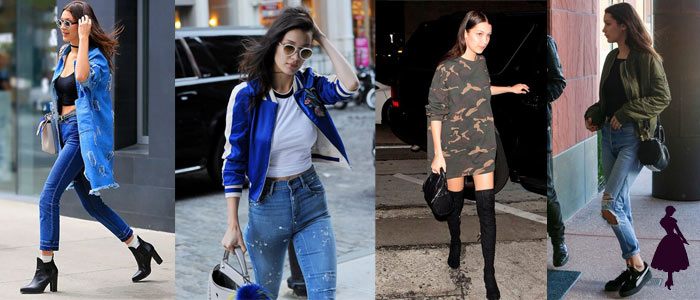 Estilo under 21 Bella Hadid Casual
