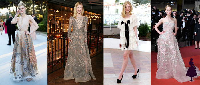 Estilo under 21 Elle Fanning Formal