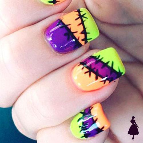 Diseños de uñas para halloween tela
