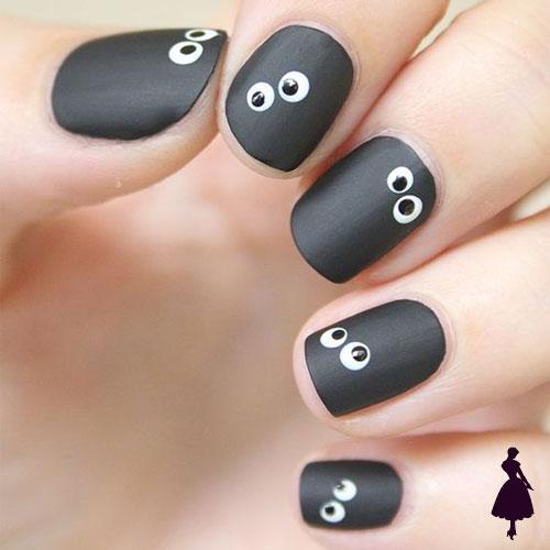 Diseños de uñas para halloween monstruos