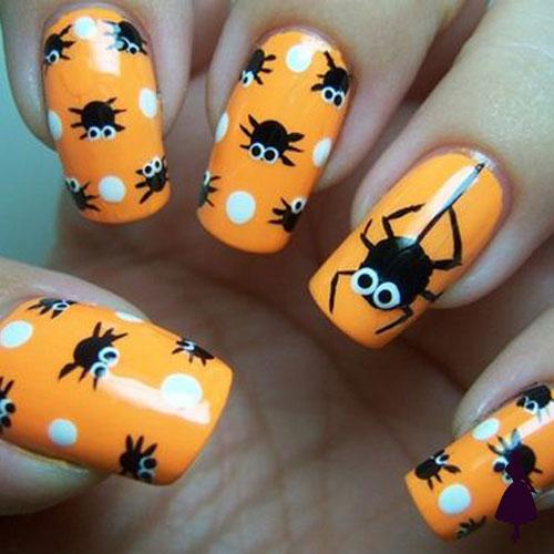 Diseños de uñas para halloween arañas