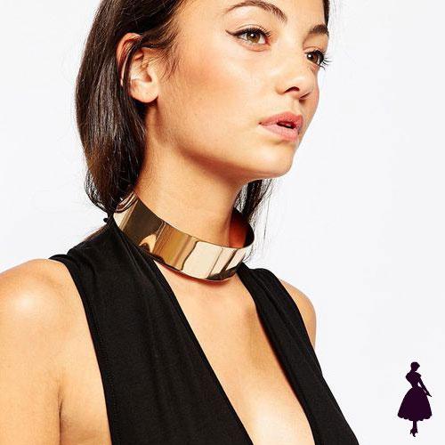 Collar Choker metálico