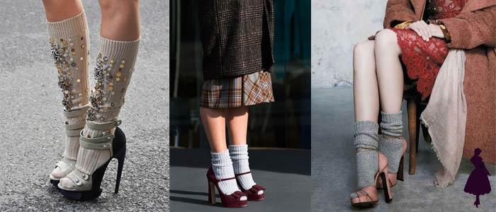 Medias con sandalias Calcetines