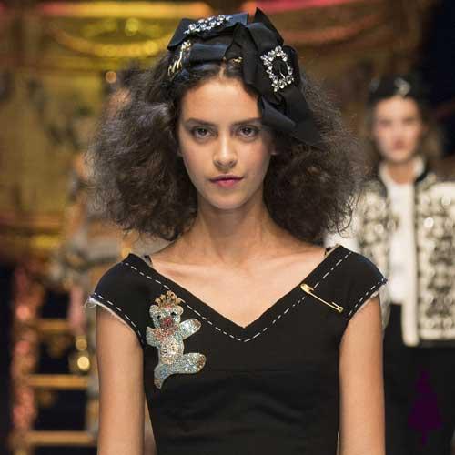 Peinados para fiestas Dolce Gabbana Fall 2016