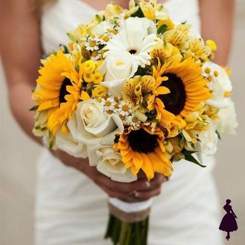 Ramos de novia Girasoles