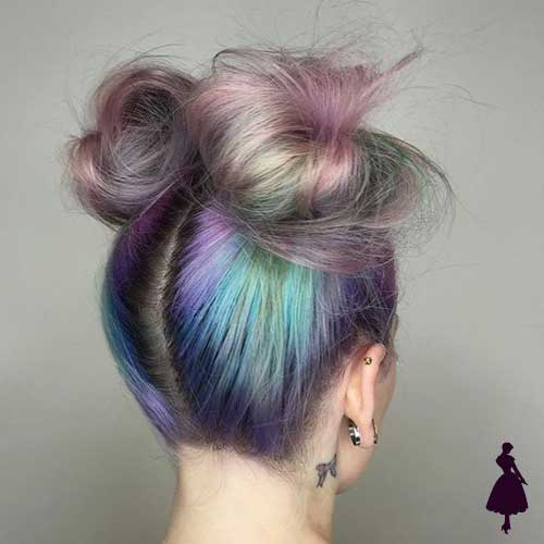 Peinado con tomate Space bun