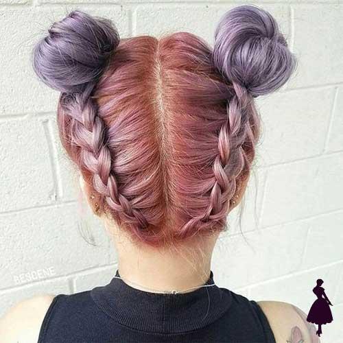 Peinado con tomate doble space bun