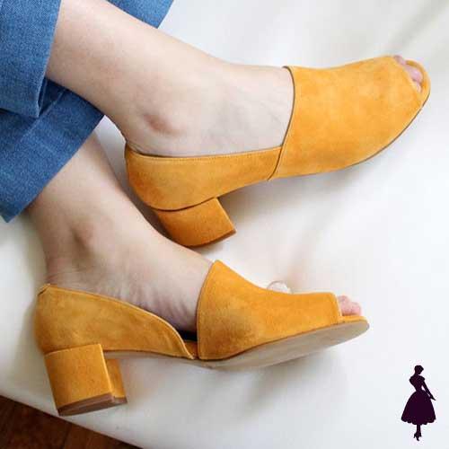 Zapato Bajo Sandalias Peep Toe
