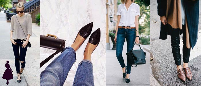 Zapatos en punta Flats