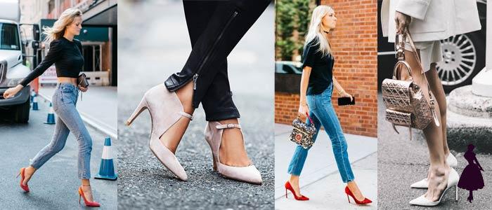 Zapatos en punta Stilettos